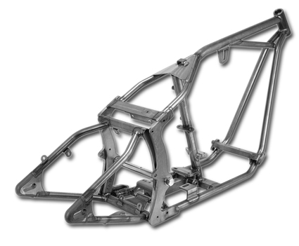 Santee 38° Gooseneck Softail Frame for Big Twin L84-99 at ...