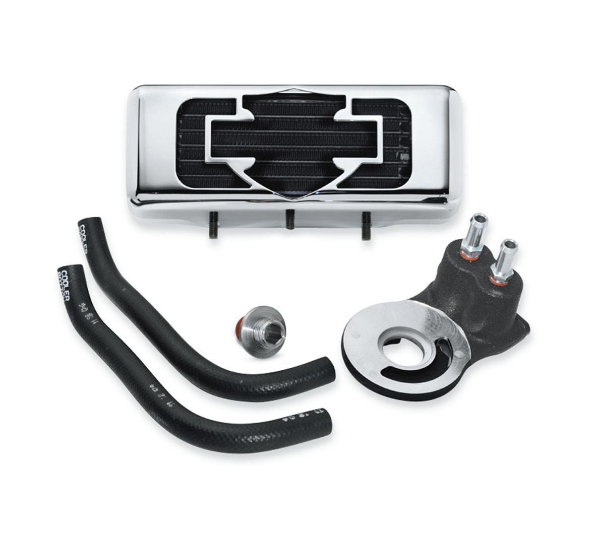 Harley Engine Cooler : A premium oil cooler kit touring models