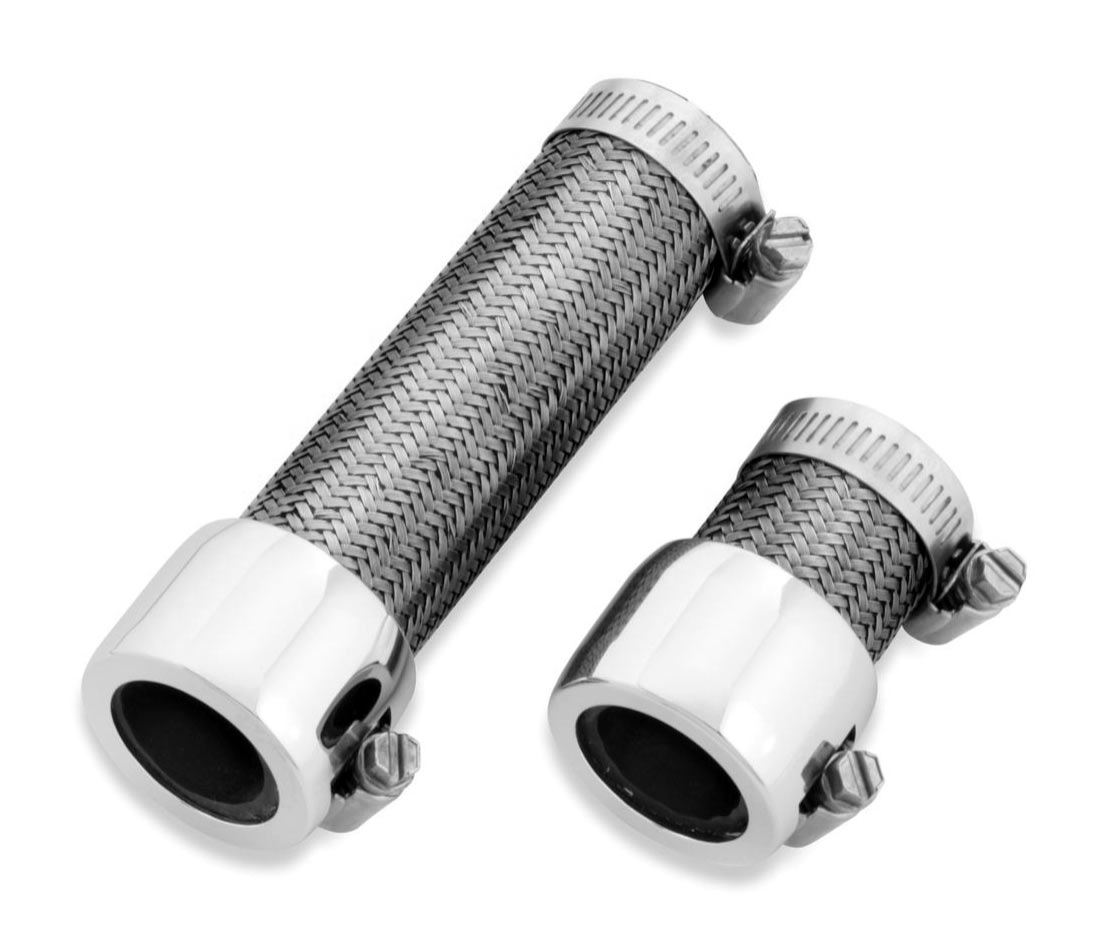 Chrome Stainless Braided Line : Braided stainless steel coolant line at