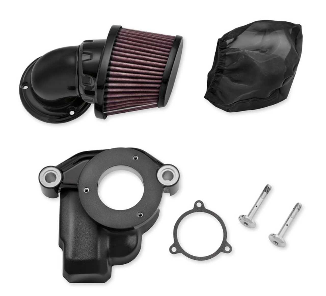 Breather Air Cleaner : Heavy breather air cleaner black touring later