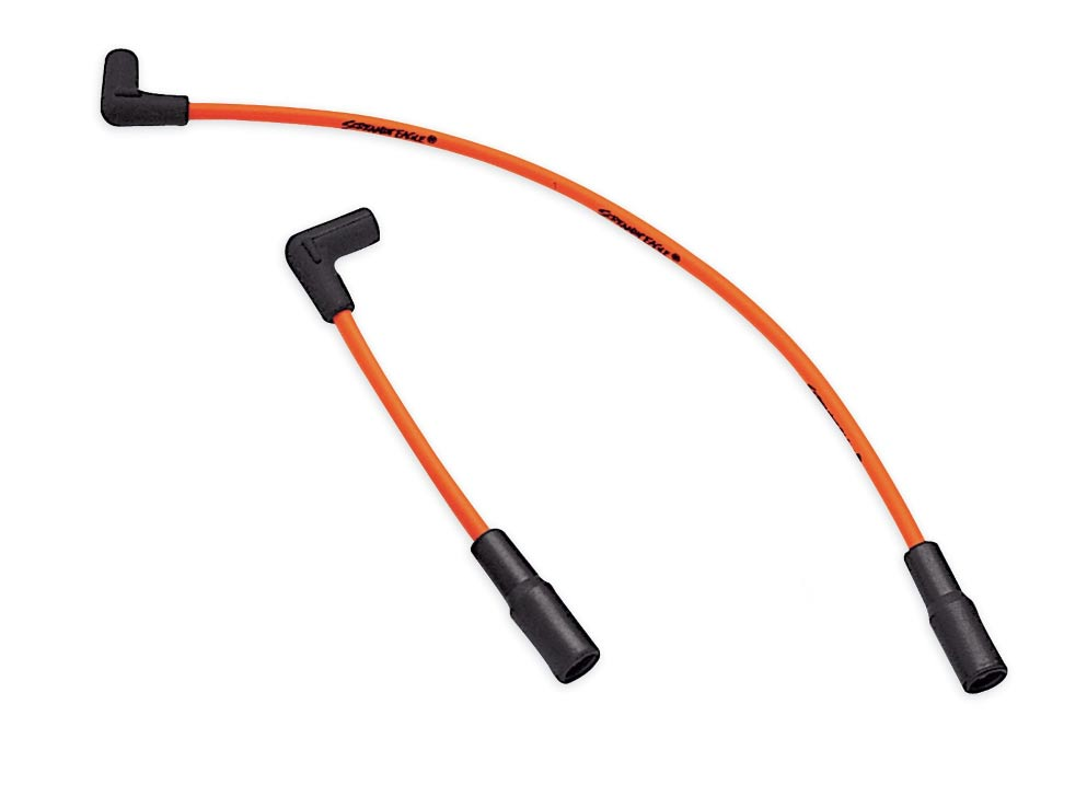 Screamin' Eagle 10mm Phat Spark Plug Wires orange on