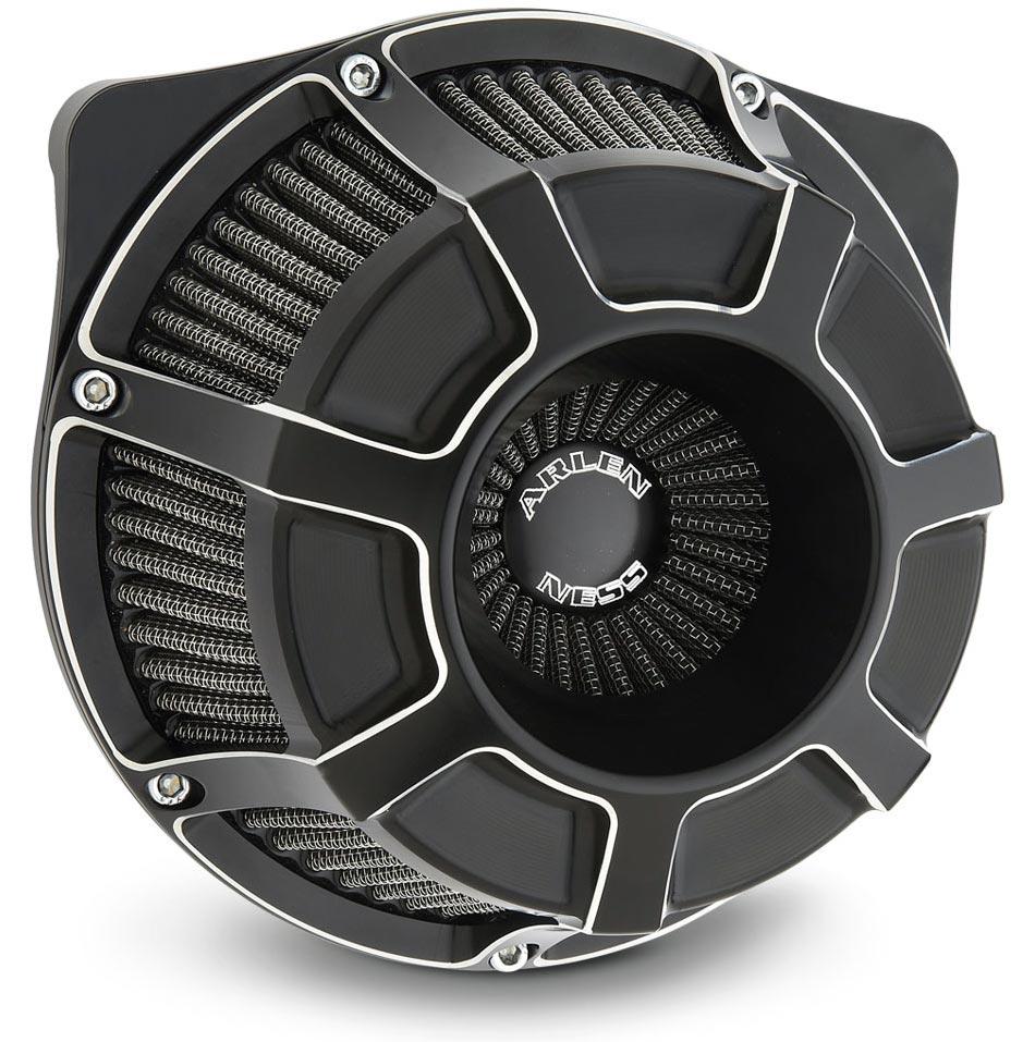 Arlen Ness Beveled Inverted Air Cleaner Kit Black For Sportster Xl 91 Later At Thunderbike Shop