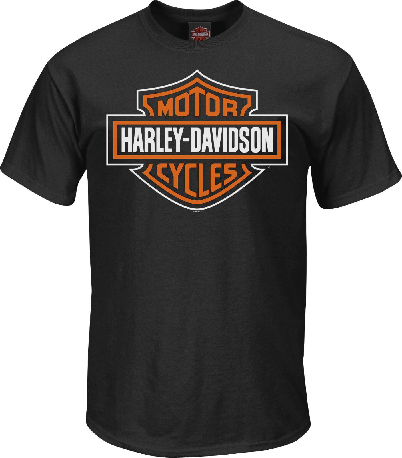 Harley Davidson Shield Logo T-Shirt Men S-XL Brand New!