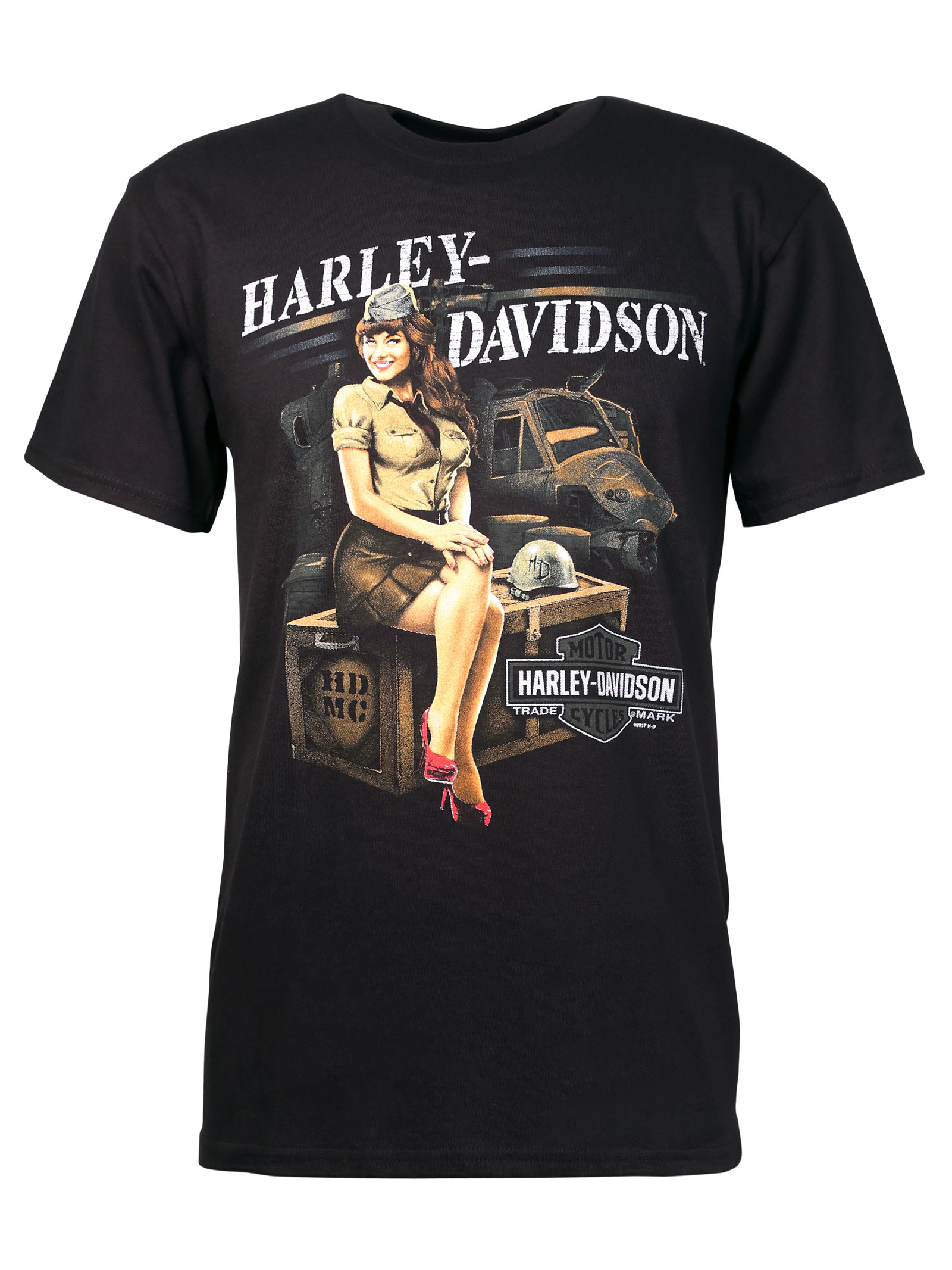 harley davidson t shirt warrior heritage at thunderbike shop. Black Bedroom Furniture Sets. Home Design Ideas