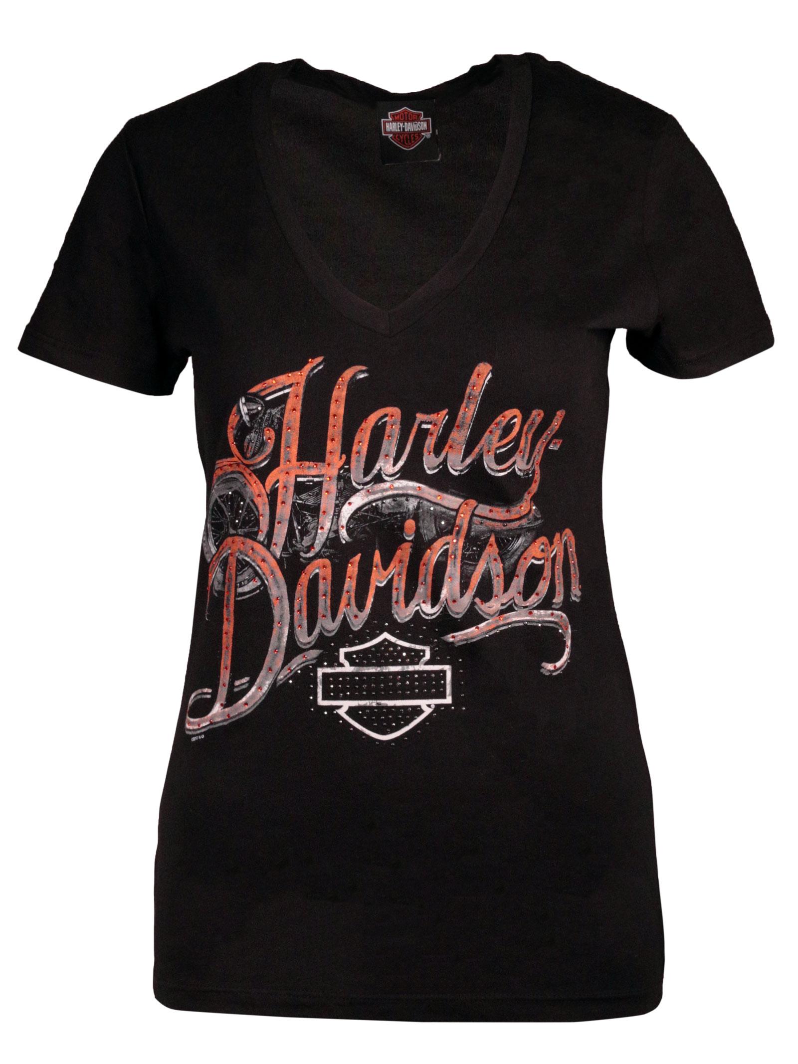 harley davidson damen shirt bling accessories im. Black Bedroom Furniture Sets. Home Design Ideas