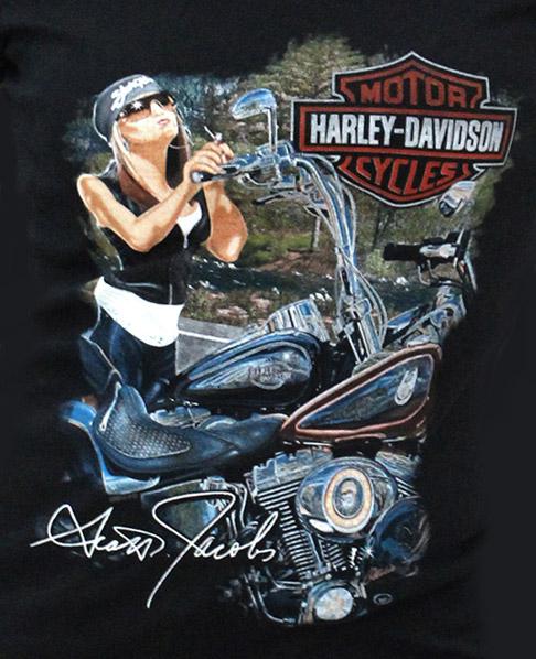 harley davidson damen t shirt in your dreams im. Black Bedroom Furniture Sets. Home Design Ideas