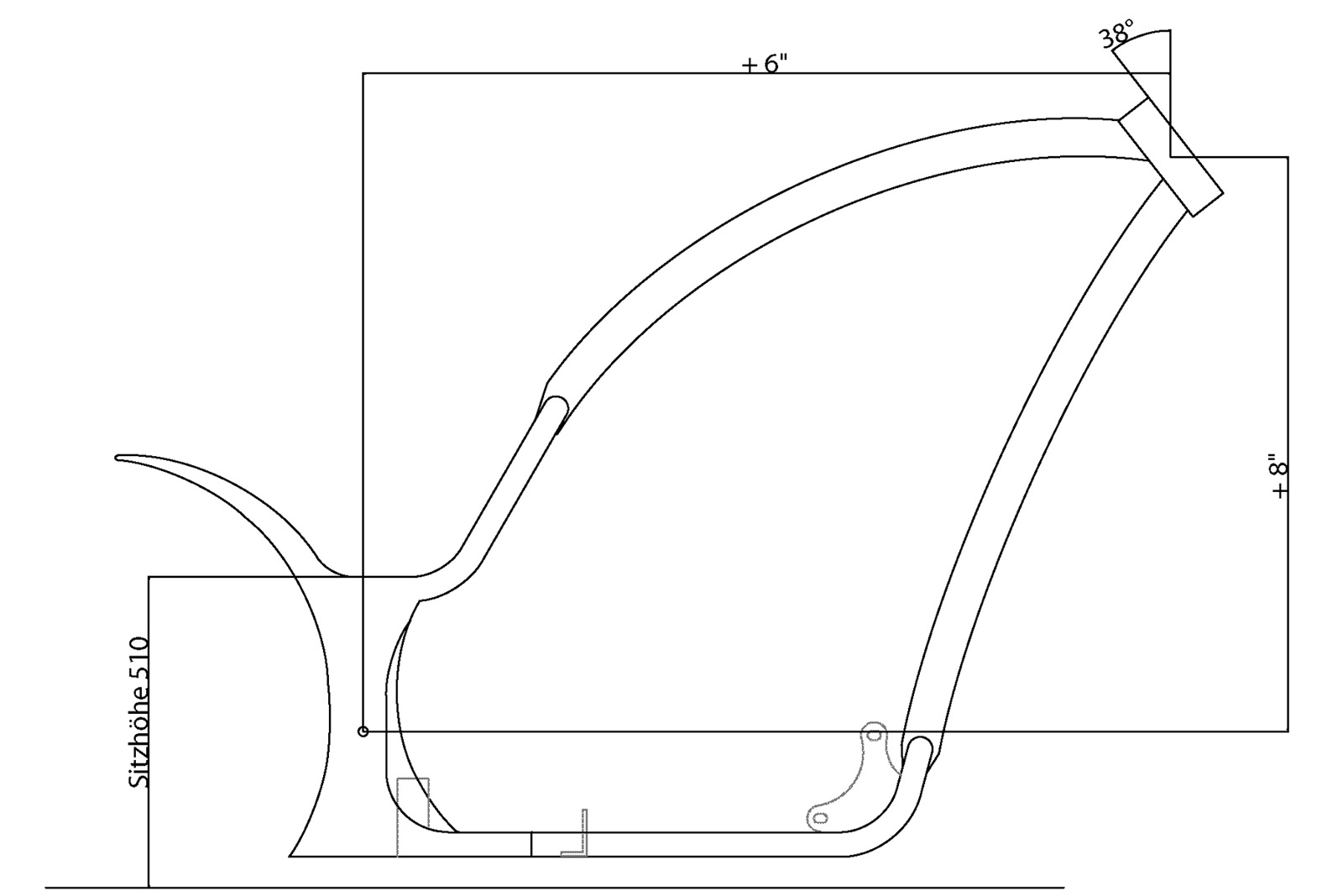Rahmen-Kit Radical Over Curved für Evo Style Motoren im Thunderbike Shop