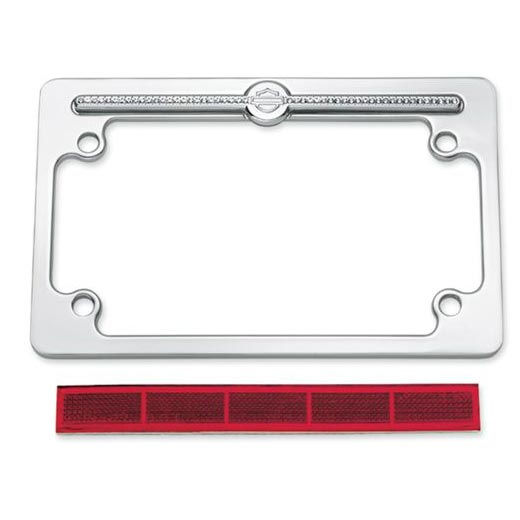 60969-10 Diamond Ice License Plate Frames - Top Logo at Thunderbike Shop