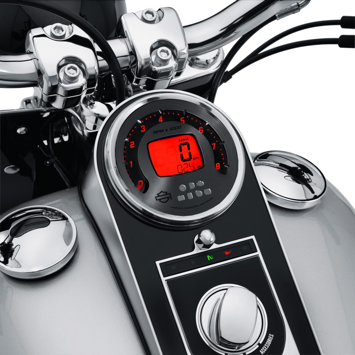 Electronic Speedometer Gauges : A combination digital speedometer analog