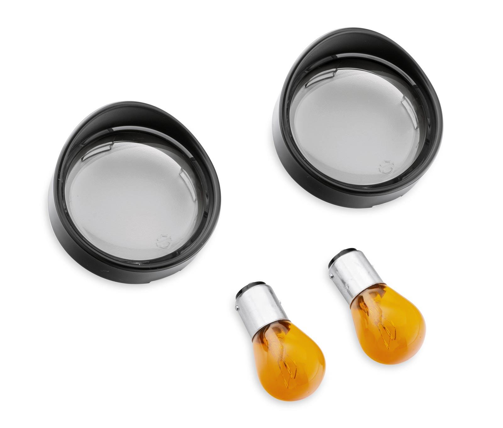 73342-09 Bullet Blinker-Zierschirm vorn, getöntes Glas & orangene ...