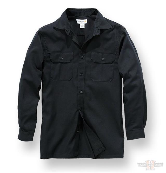 carhartt twill work shirt langarm schwarz im thunderbike shop. Black Bedroom Furniture Sets. Home Design Ideas