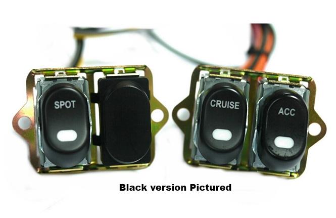 CCE, Rocker Switch Kit, Fairing- Handle Bar, Spot/Cruise/Acc, Chrome