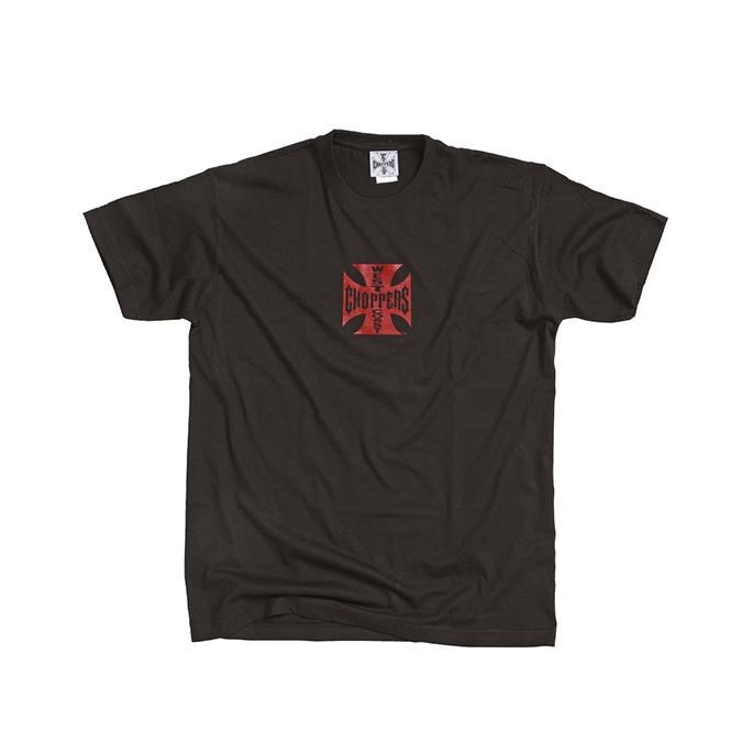 3ca85289 ... West Coast Choppers West Coast Choppers T-Shirt Iron Cross red & black  - 90 ...