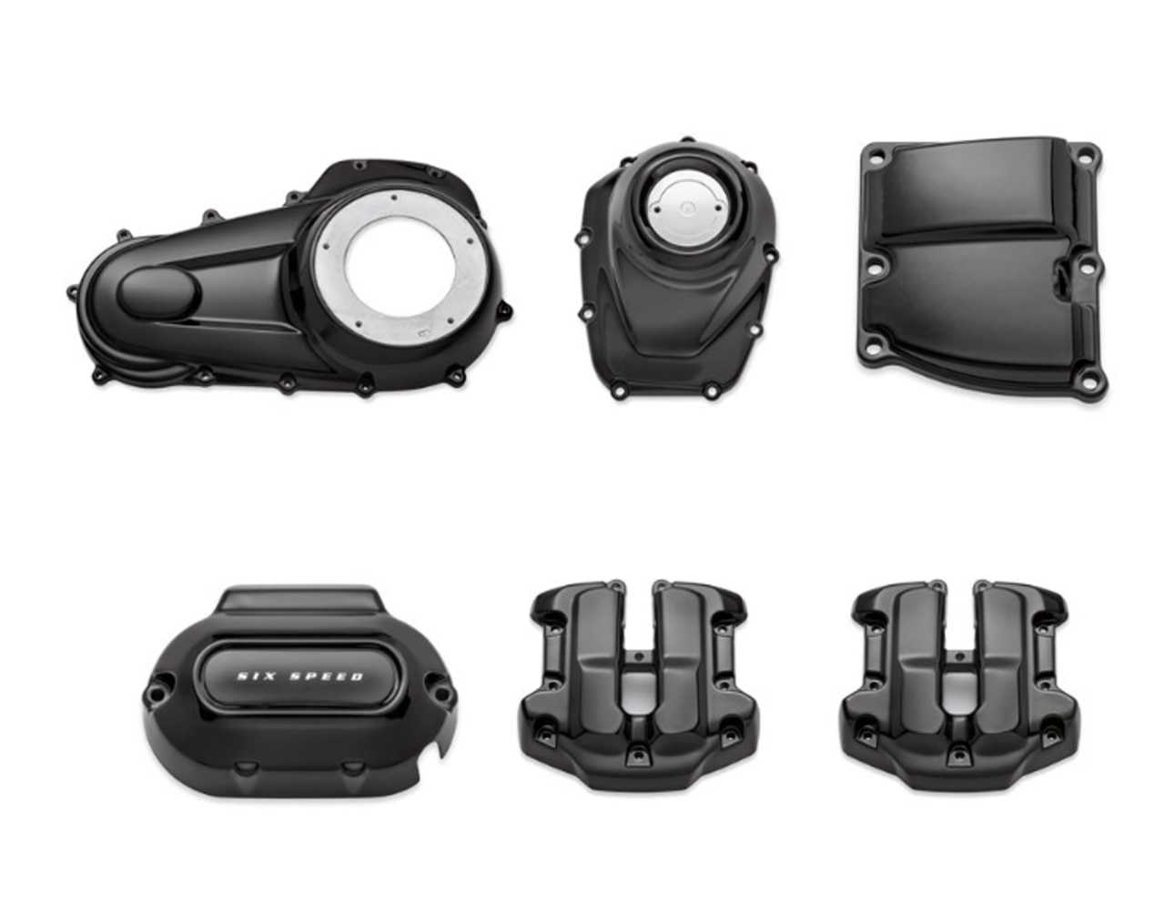 92500059 Black Engine Cover Kit For Touring 17 Later