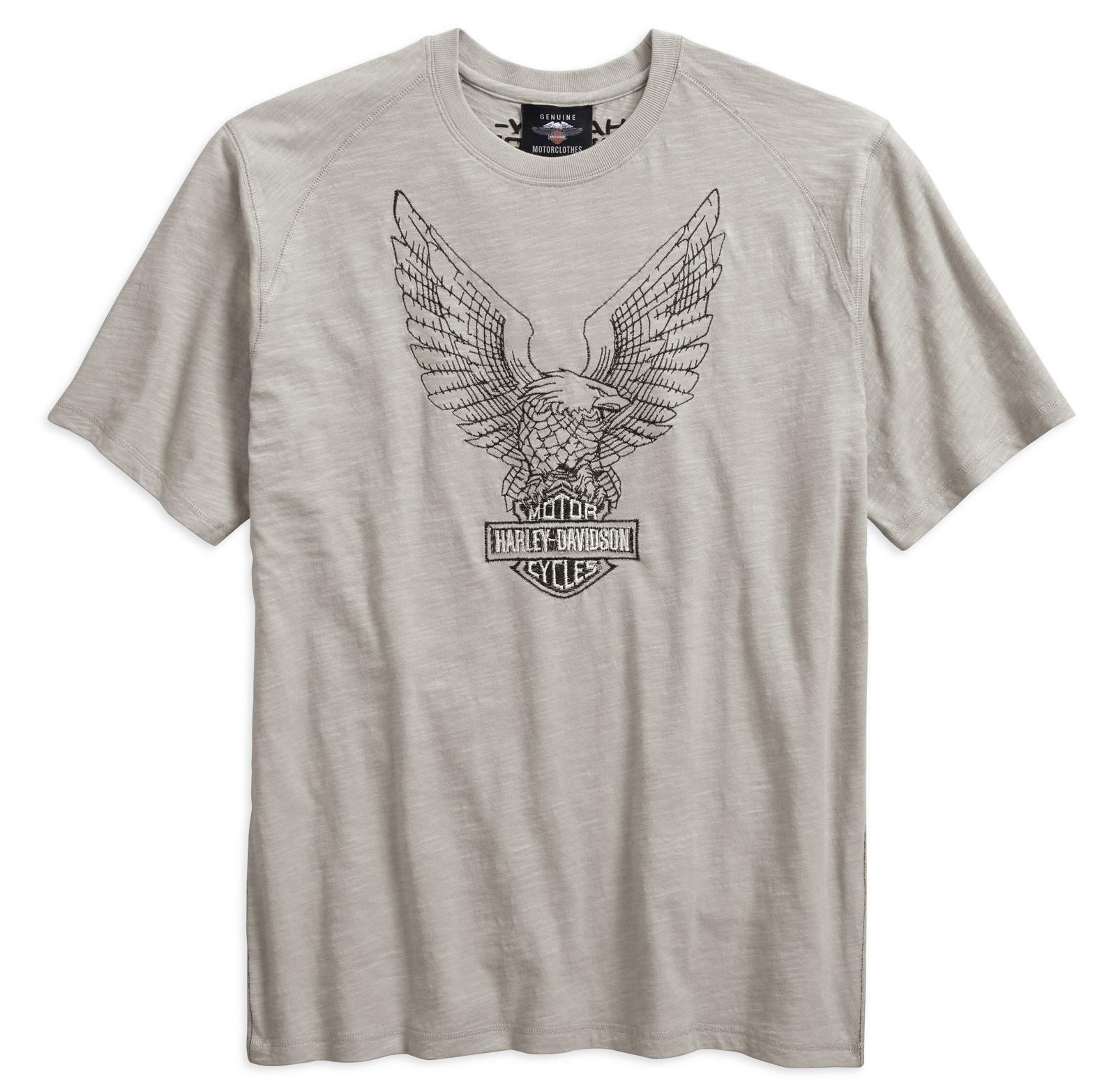 96199-18VM Harley-Davidson T-Shirt Embroidered Eagle light grey at ...