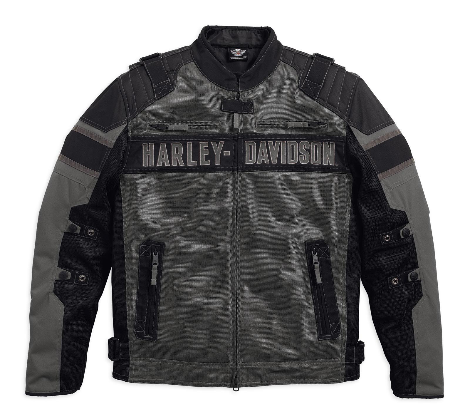 97141 17vm harley davidson textiljacke codec schwarz grau. Black Bedroom Furniture Sets. Home Design Ideas