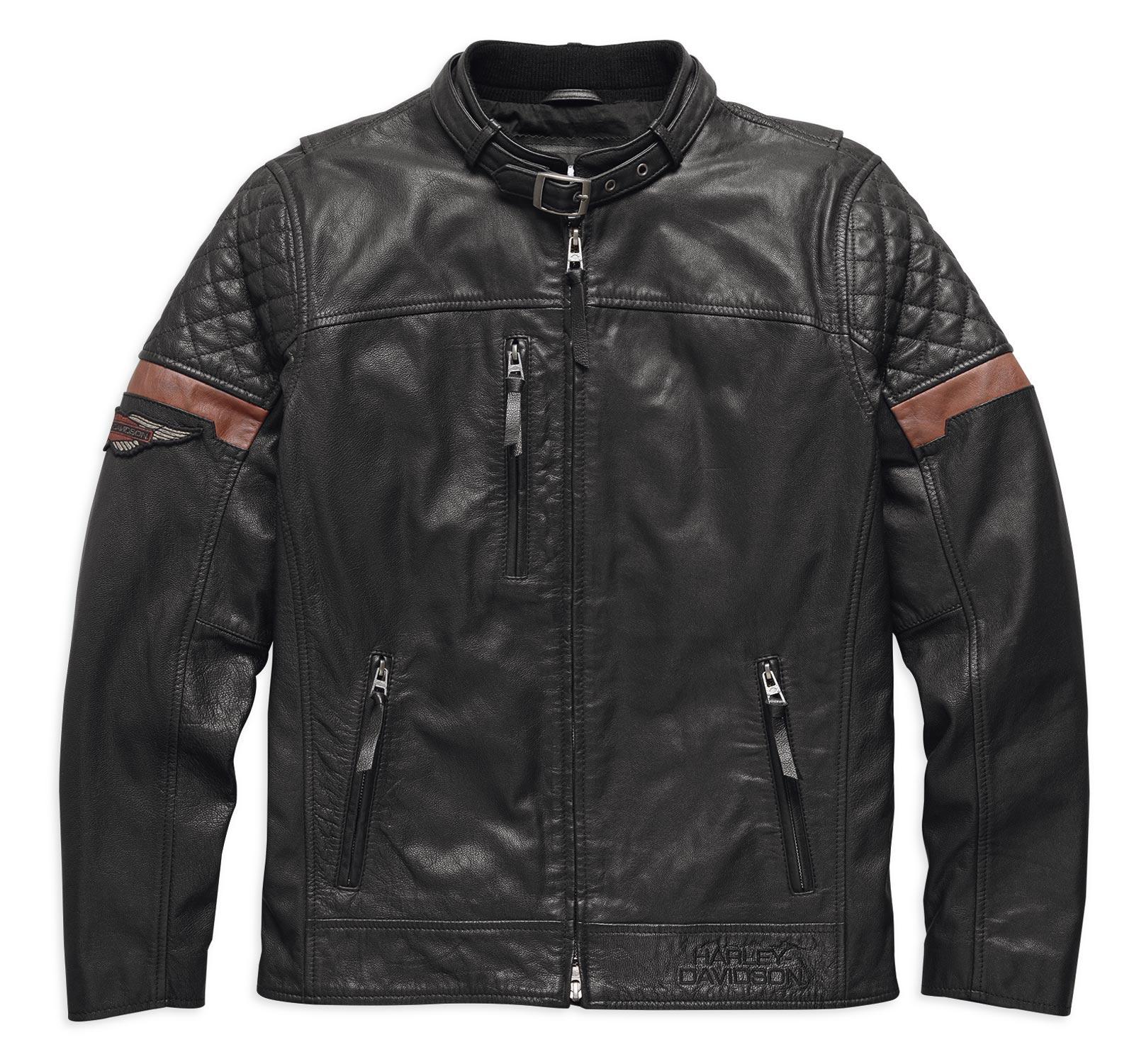 97165 17vm harley davidson lederjacke black varick im thunderbike shop. Black Bedroom Furniture Sets. Home Design Ideas
