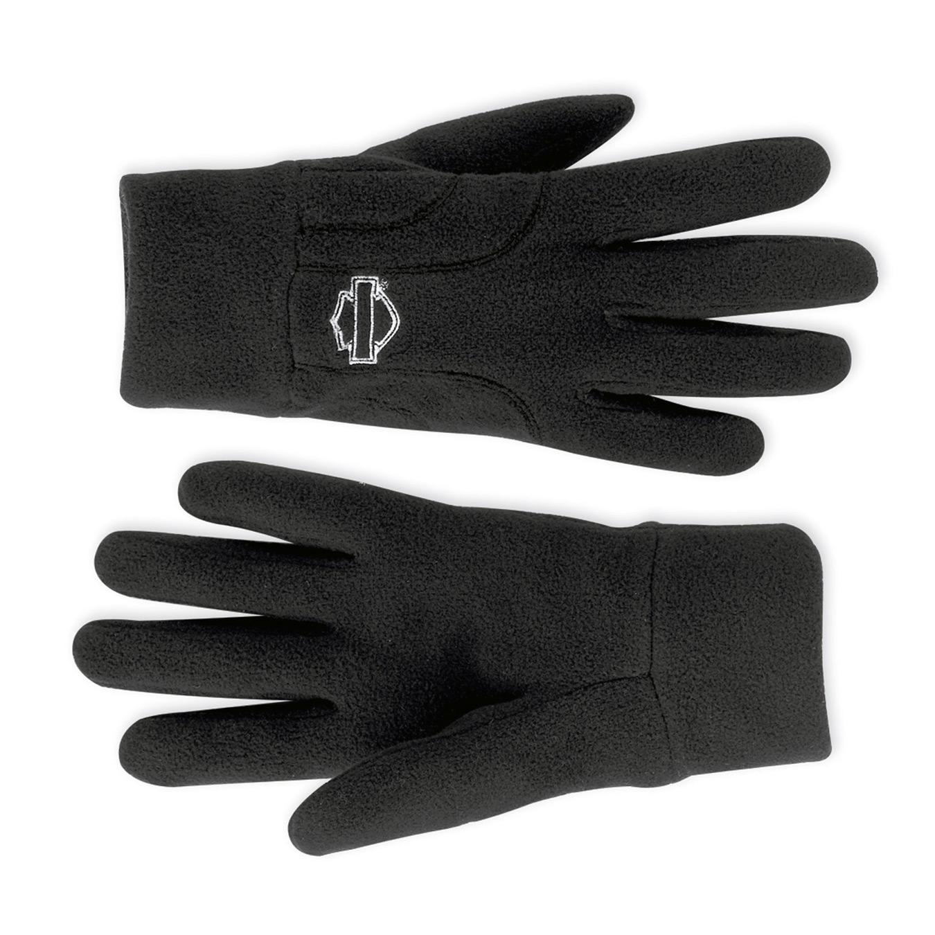 97238 12vw harley davidson fleece handschuhe mania im. Black Bedroom Furniture Sets. Home Design Ideas
