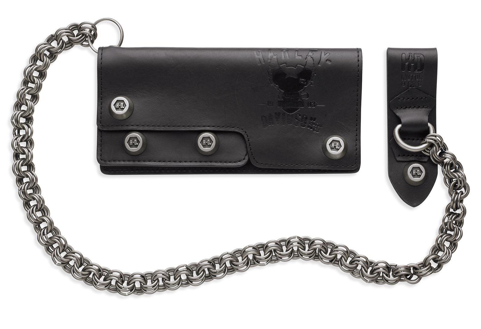 97633 17vm harley davidson chain biker wallet black at Harley-Davidson Eagle Carved harley davidson chain saver 99875-50