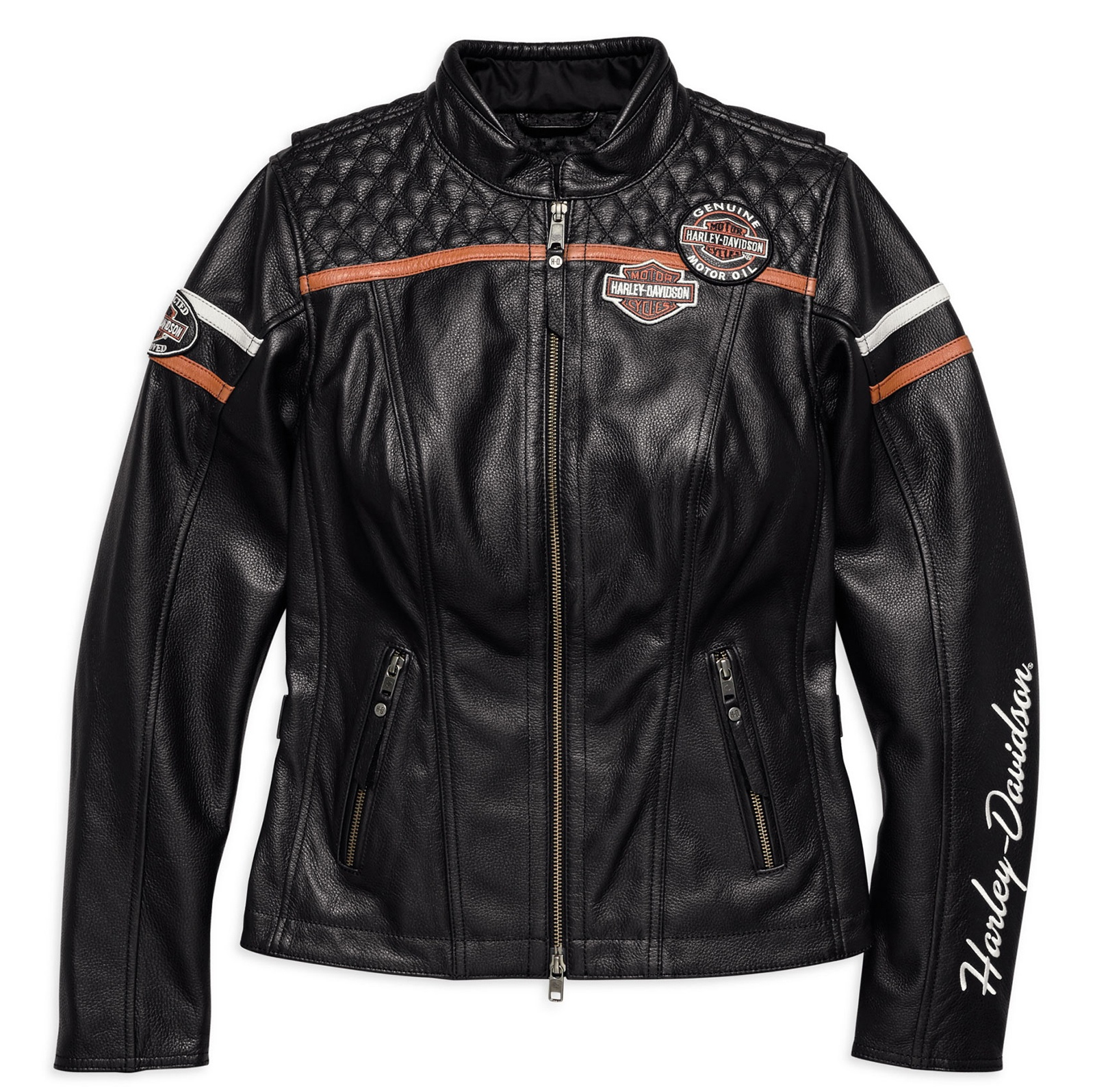 98030 18ew harley davidson leather jacket miss enthusiast ce at thunderbike shop. Black Bedroom Furniture Sets. Home Design Ideas
