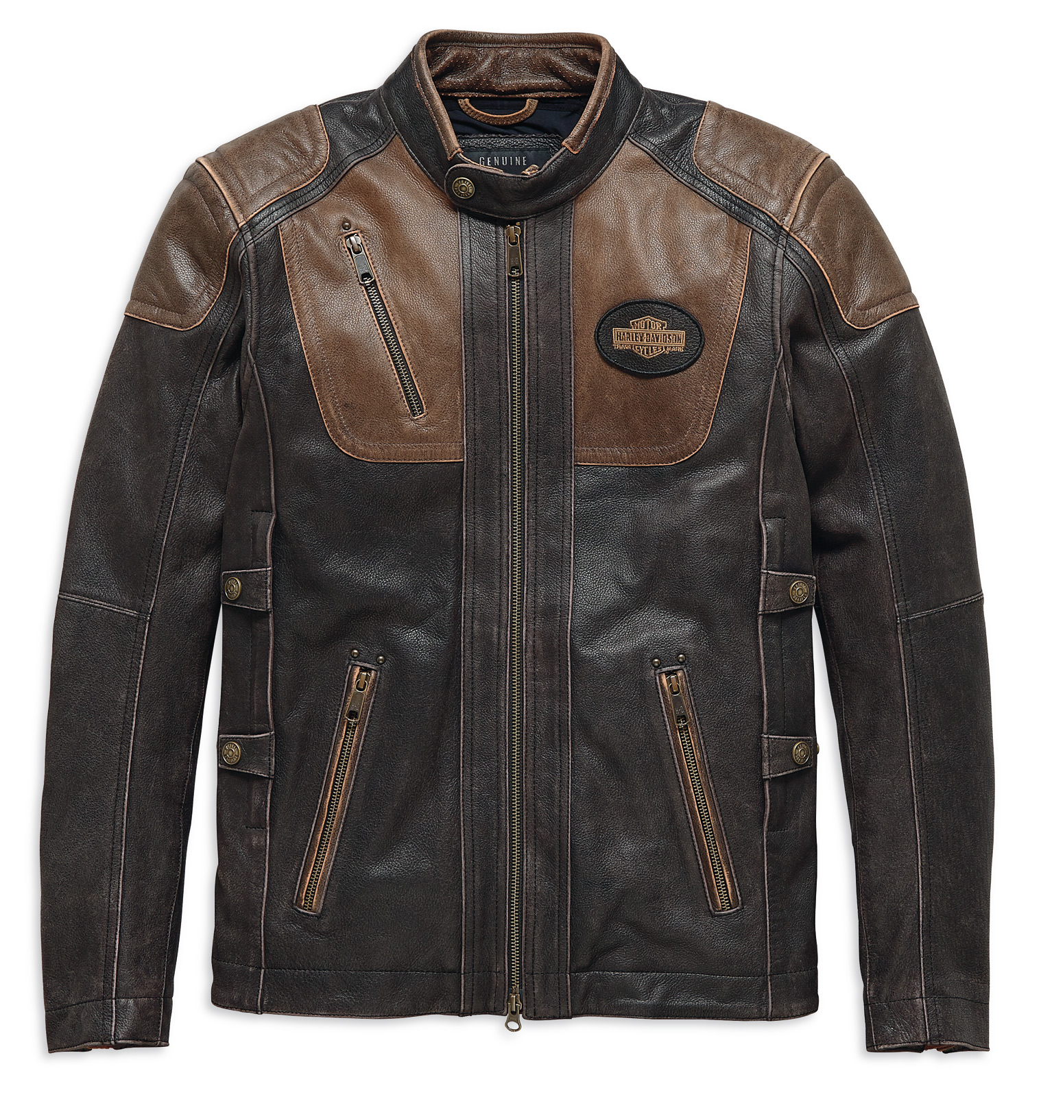 Triple Davidson Harley Vent Trostel 19EM 98053 Lederjacke bf6y7IYgv
