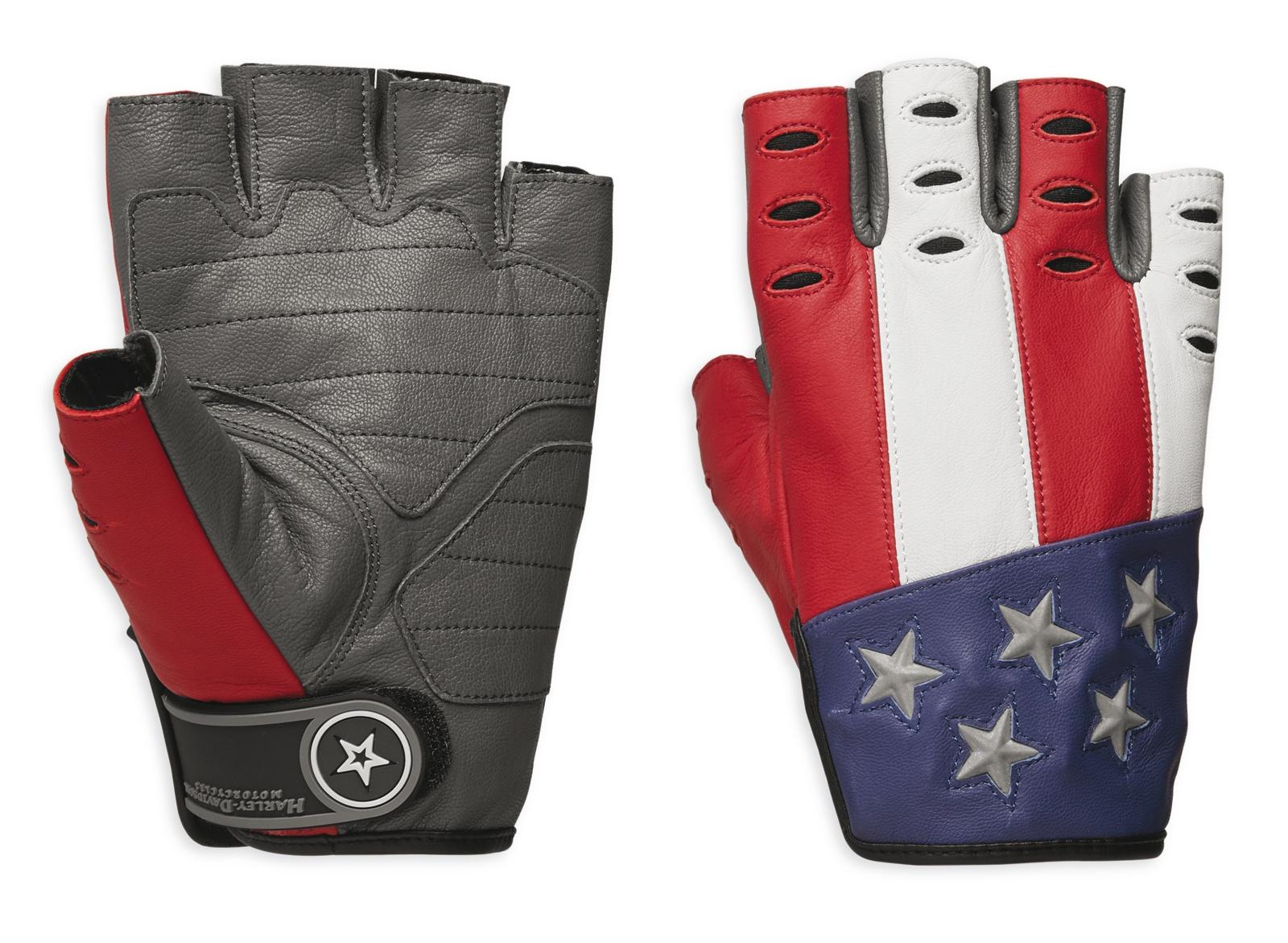 98106 19vm harley davidson handschuhe patriot fingerlos im. Black Bedroom Furniture Sets. Home Design Ideas