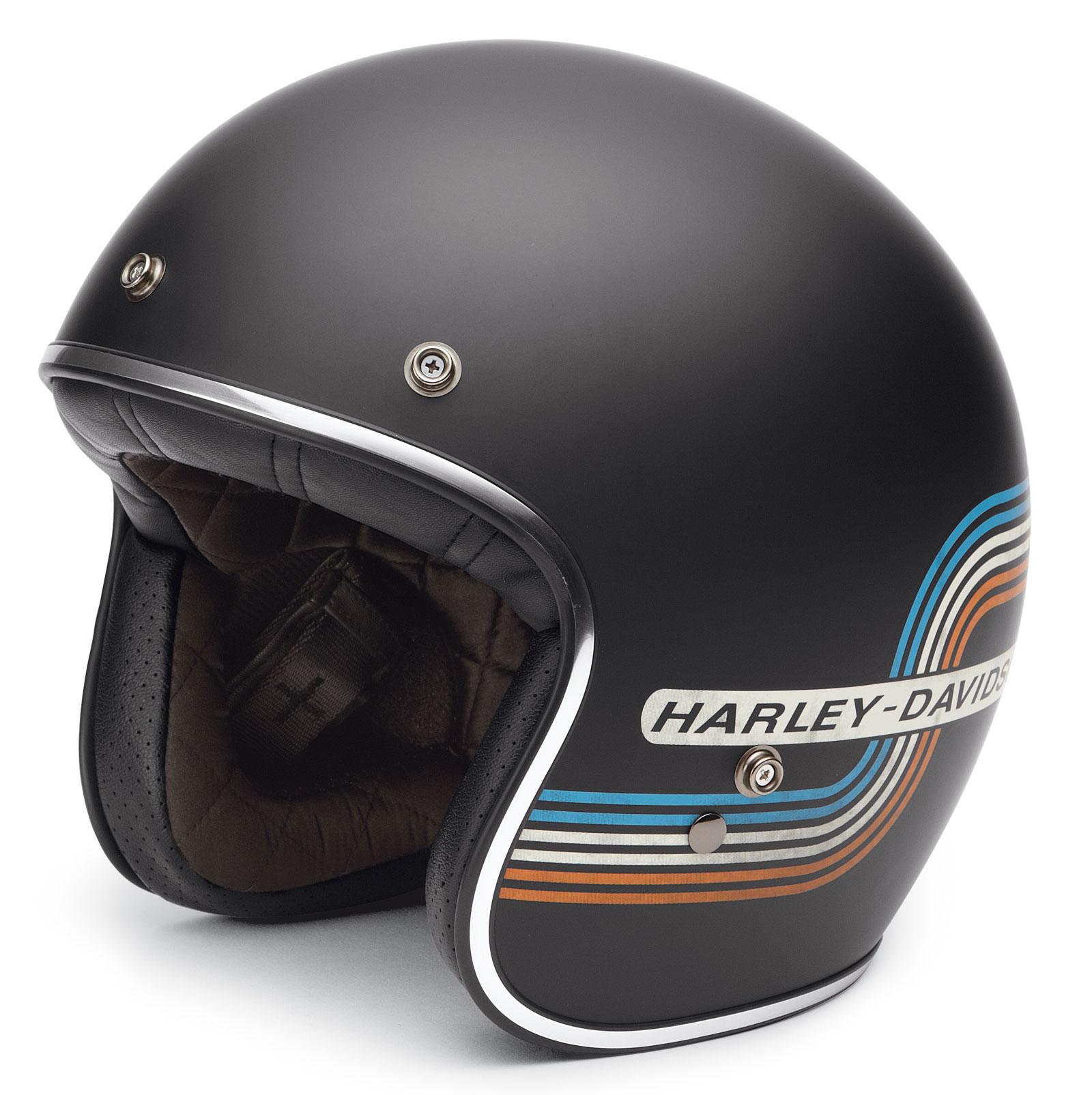 98206 17ex Harley Davidson Retro Tank Stripe 3 4 Helmet At