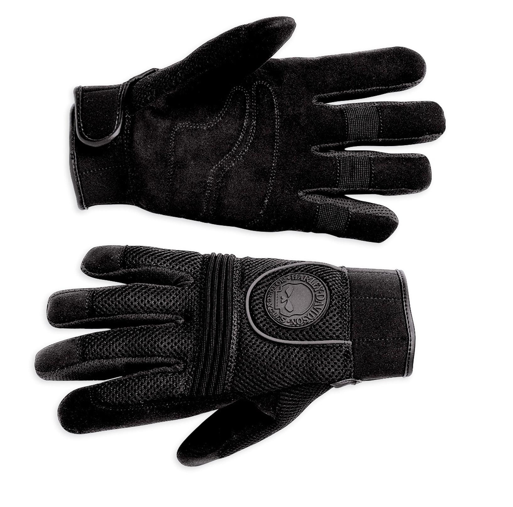 98254 10vm 000l skull full finger mesh gloves l im. Black Bedroom Furniture Sets. Home Design Ideas