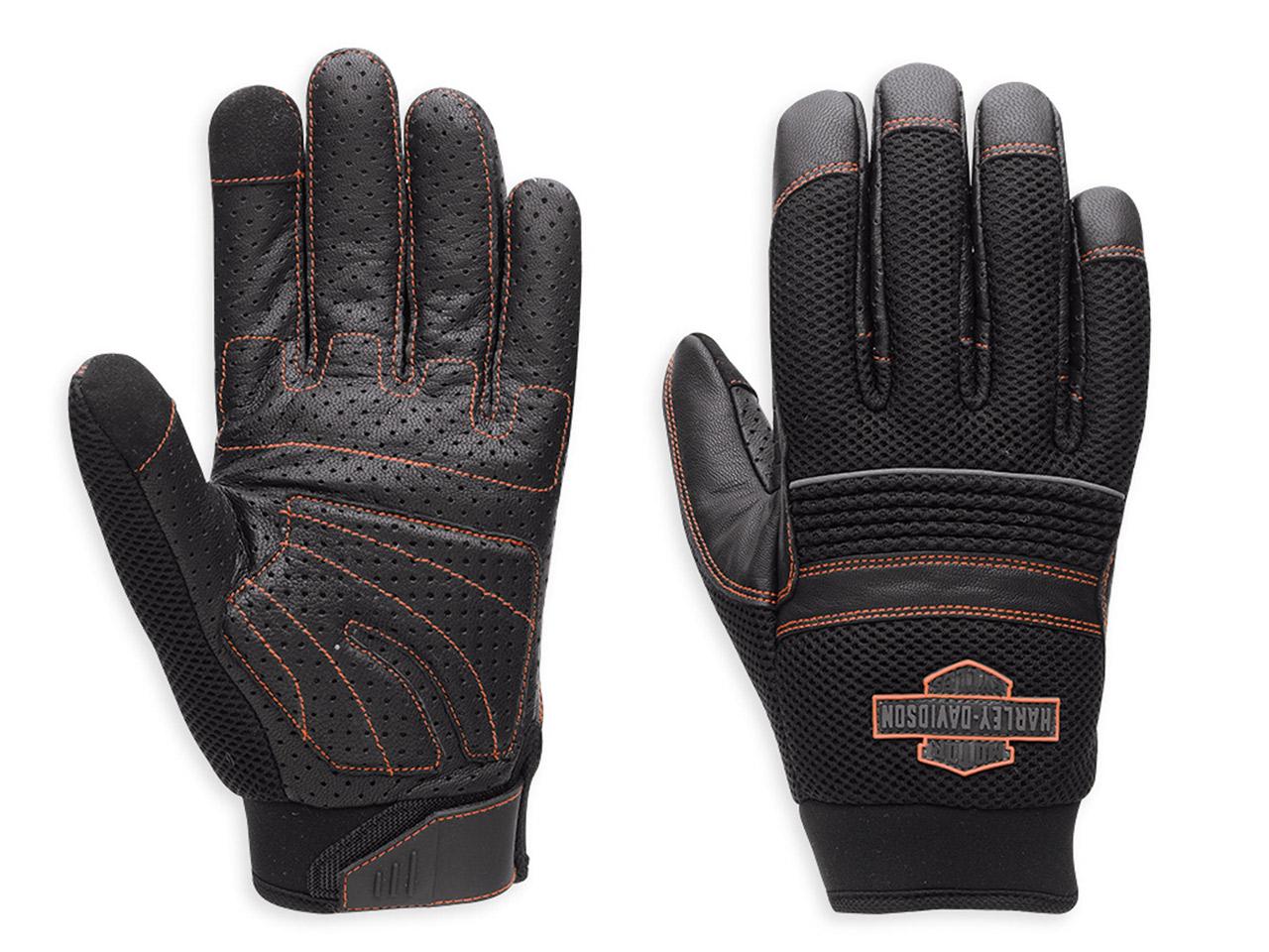 98364 15vm harley davidson handschuhe saddle mesh leder