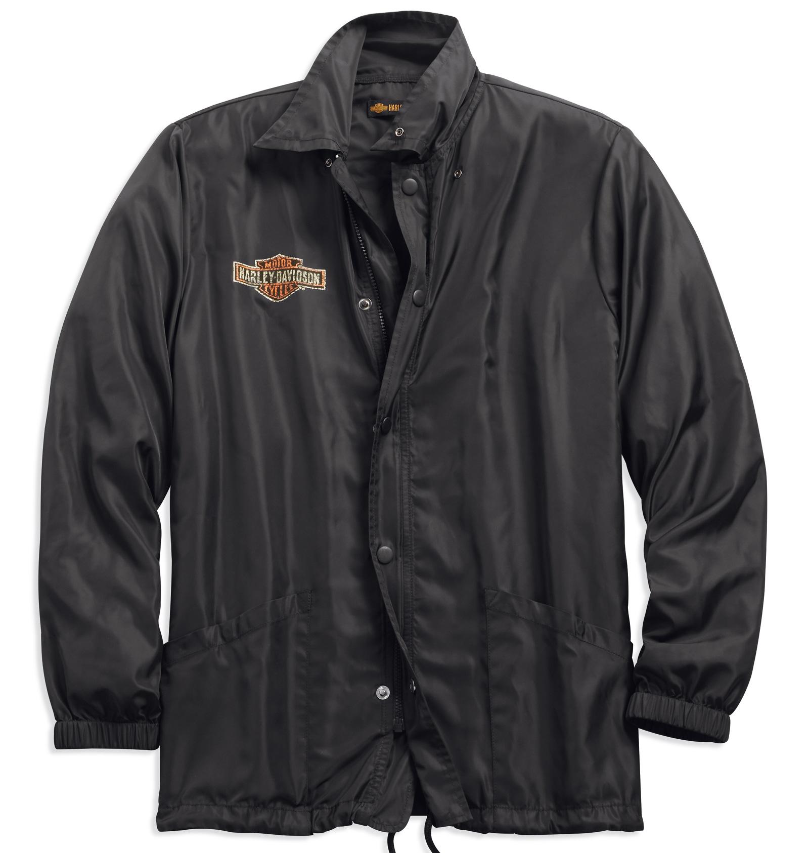98589 18vm harley davidson lightweight jacket black at. Black Bedroom Furniture Sets. Home Design Ideas