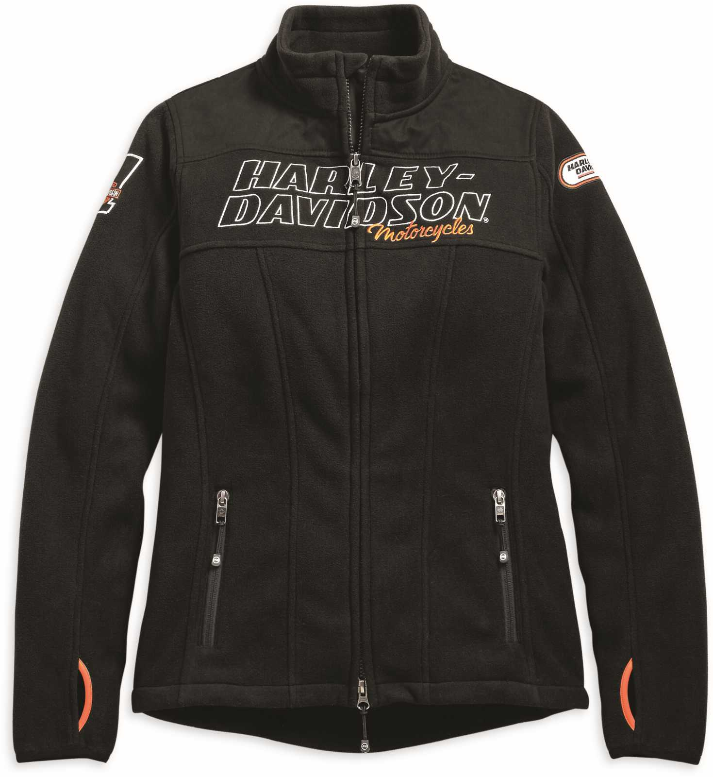 98598 19vw harley davidson damen fleece jacke racing im. Black Bedroom Furniture Sets. Home Design Ideas