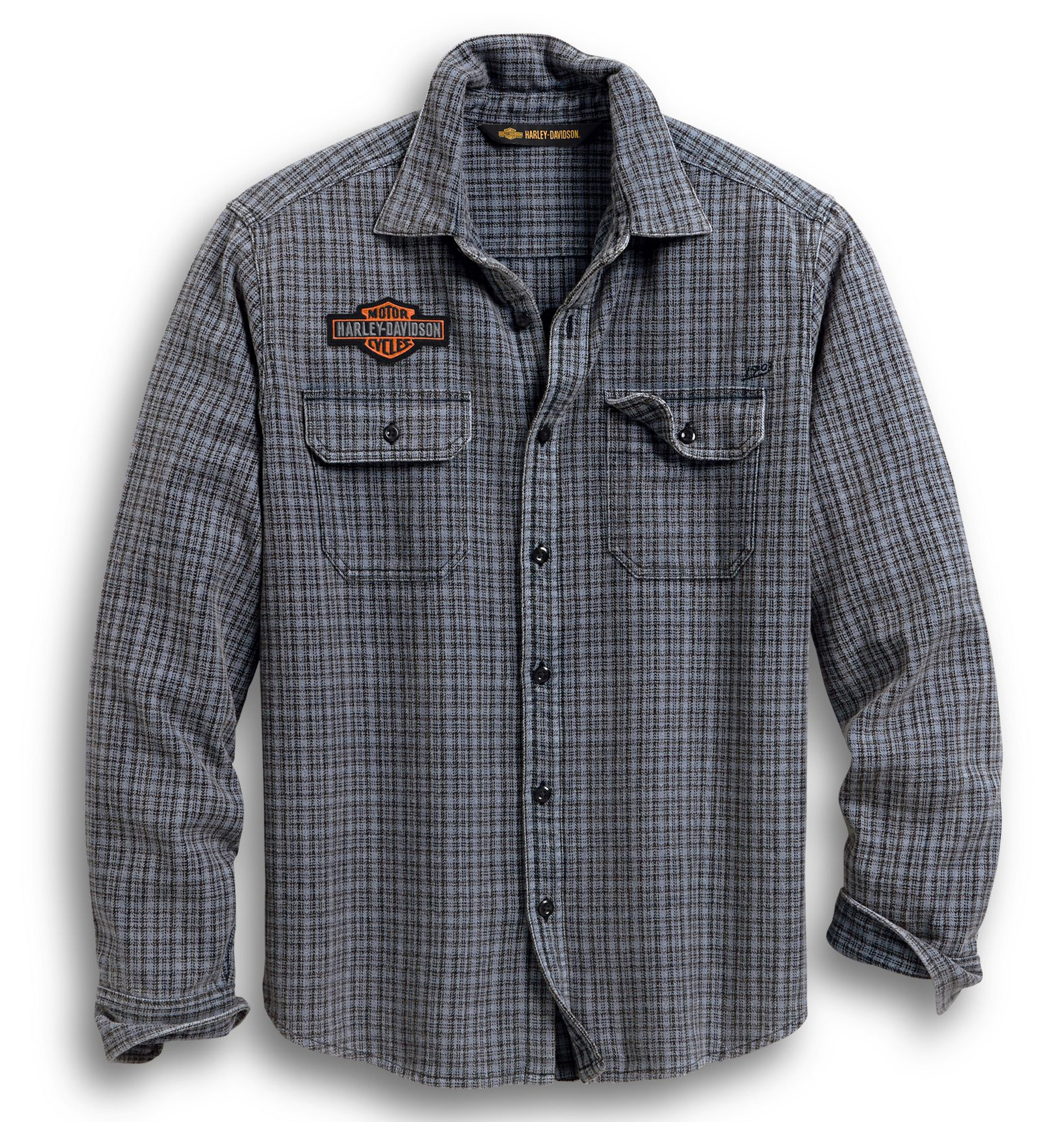 Harley Davidson HD Herren Langarm Hemd Grösse