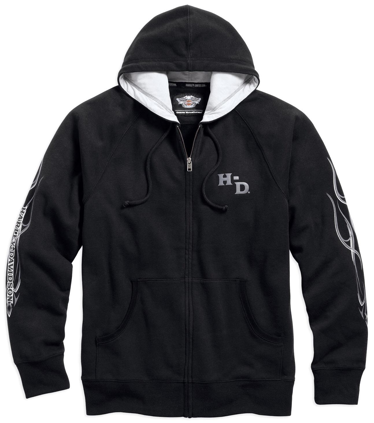 99027 16vm harley davidson hoodie pinstripe flames. Black Bedroom Furniture Sets. Home Design Ideas