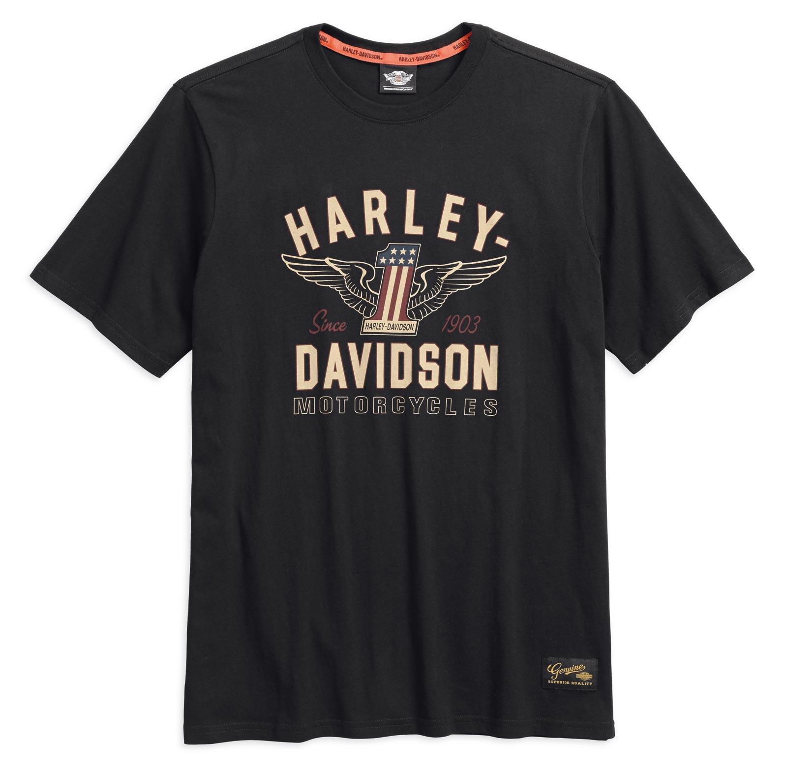 99033 17vm 000l harley davidson t shirt 1 genuine. Black Bedroom Furniture Sets. Home Design Ideas