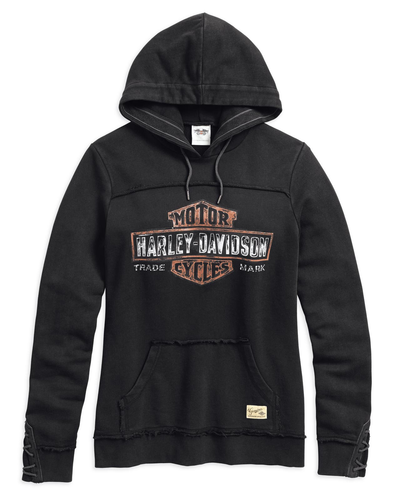 99100 17vw harley davidson women 39 s genuine pullover hoodie. Black Bedroom Furniture Sets. Home Design Ideas