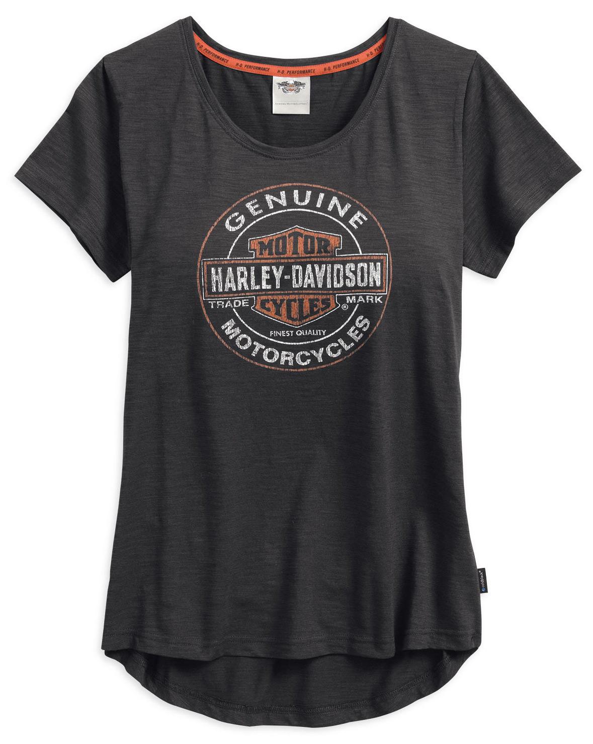99139 17vw harley davidson damen t shirt genuine coldblack im thunderbike shop. Black Bedroom Furniture Sets. Home Design Ideas