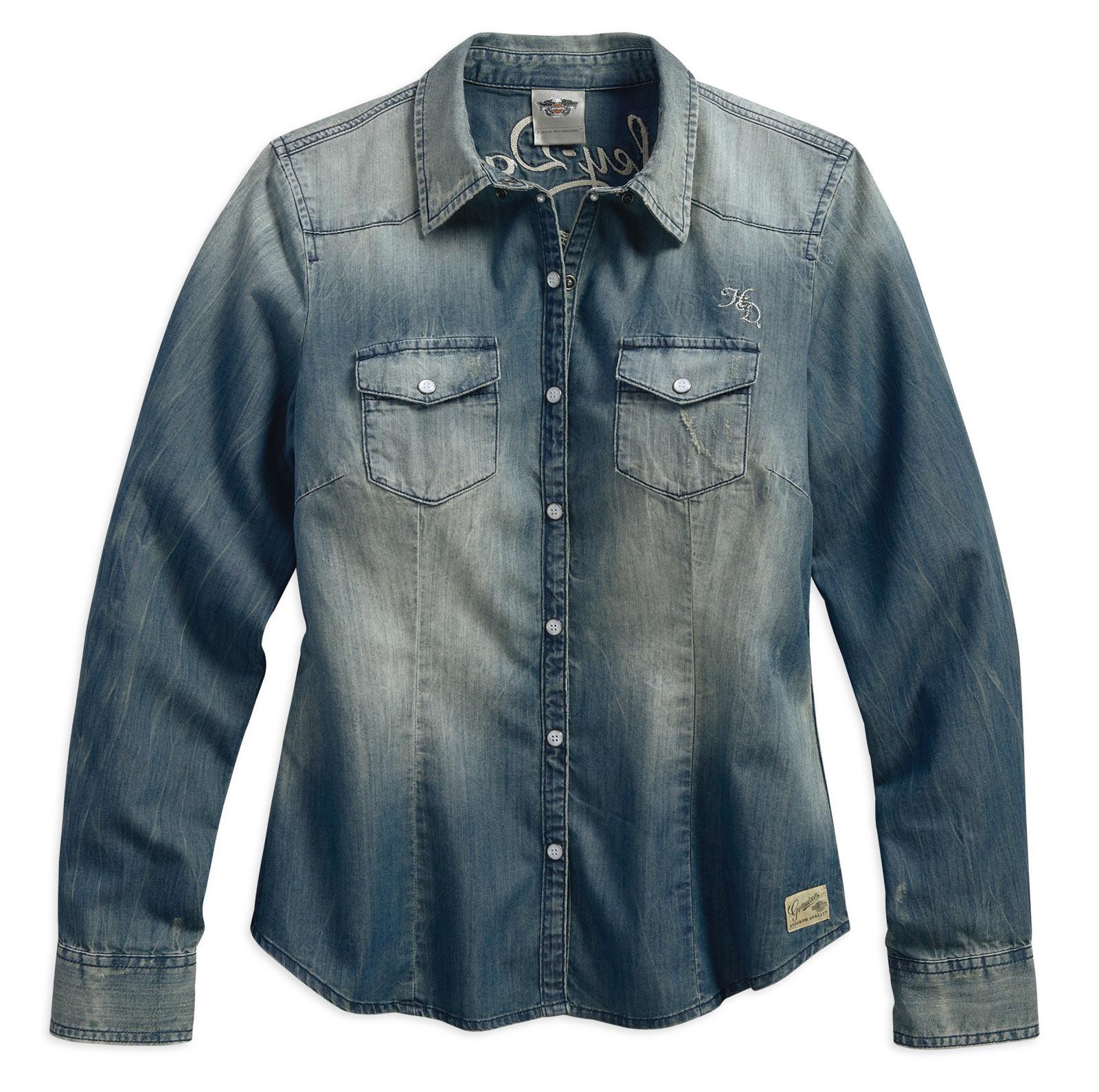 99159 17vw harley davidson jeanshemd genuine classic damen im thunderbike shop. Black Bedroom Furniture Sets. Home Design Ideas