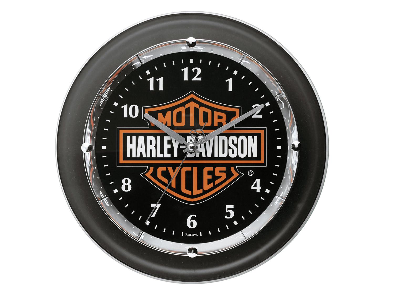 99208 12v harley davidson wanduhr chrome plated bar. Black Bedroom Furniture Sets. Home Design Ideas