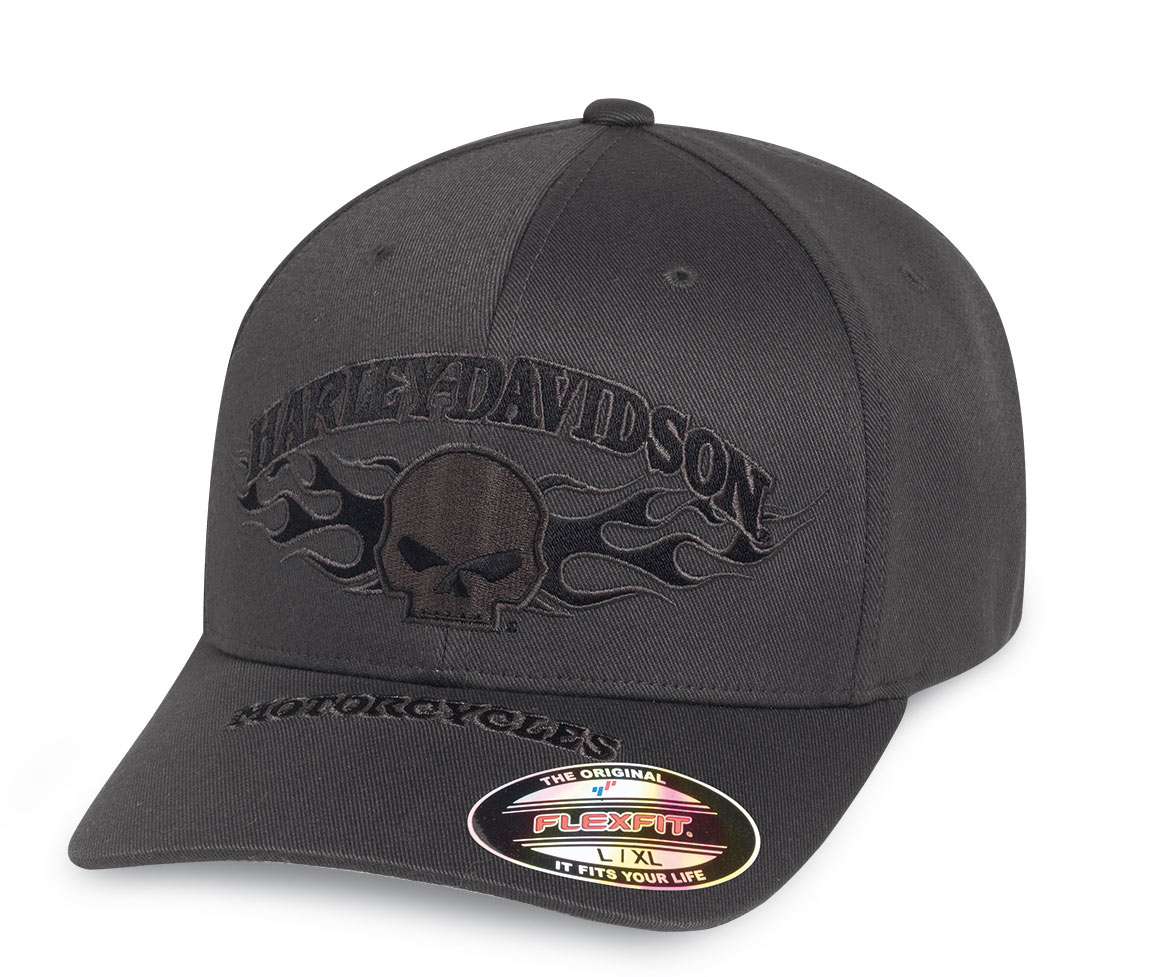 99420 16vm harley davidson baseball cap flames stretch for 99420