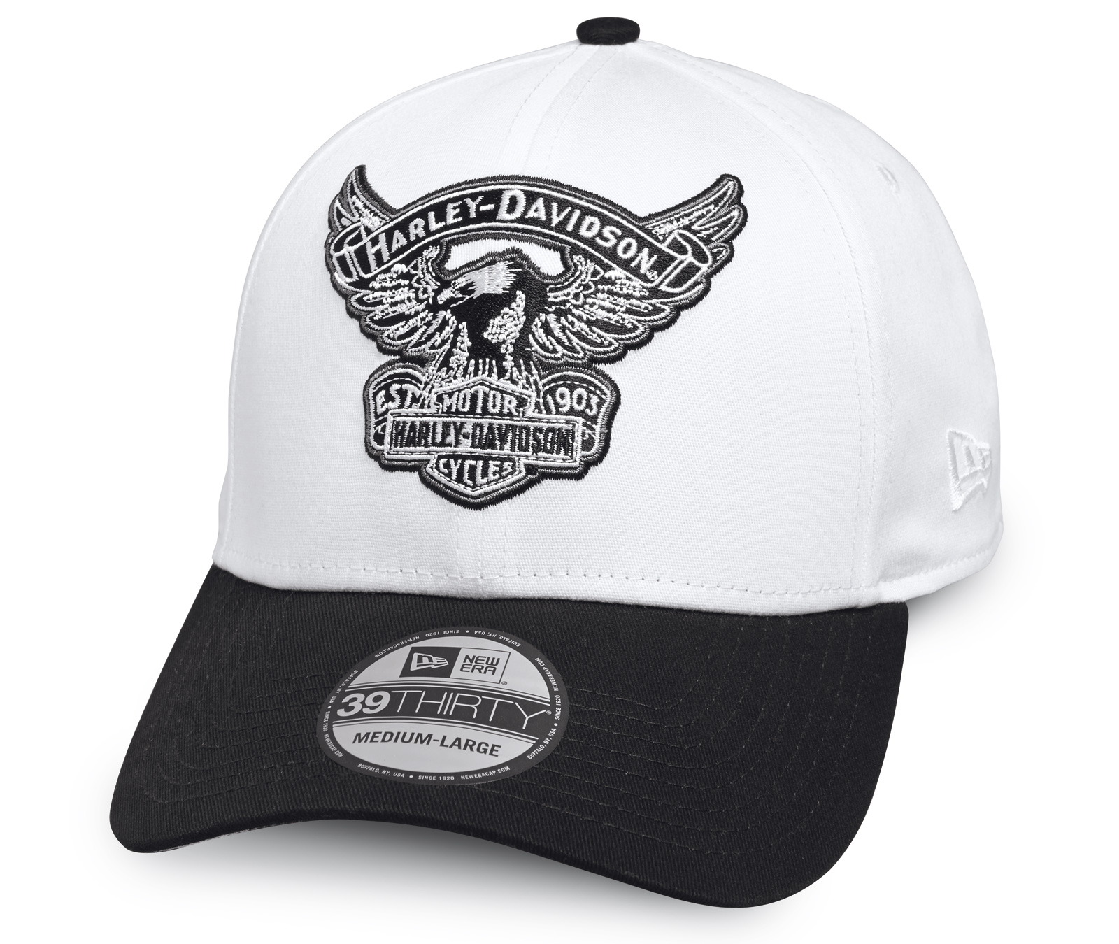 4a969ee6a69 ... H-D Motorclothes Harley-Davidson Embroidered Eagle 39THIRTY Cap