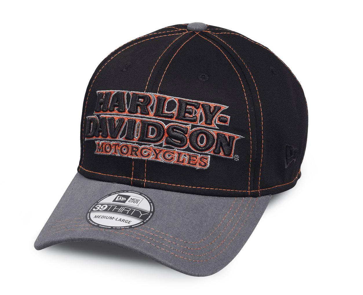99446 16vm harley davidson baseball cap colorblock. Black Bedroom Furniture Sets. Home Design Ideas