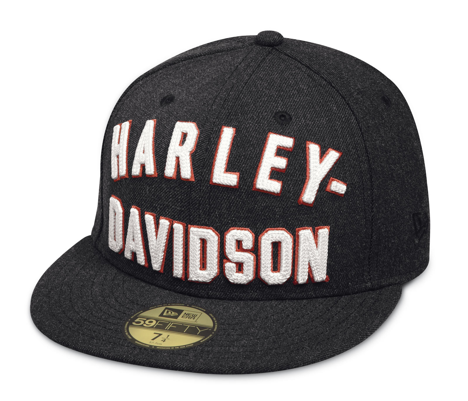 Harley Davidson Fitted Hats: 99461-17VM Harley-Davidson Chain Stitch 59FIFTY Cap At