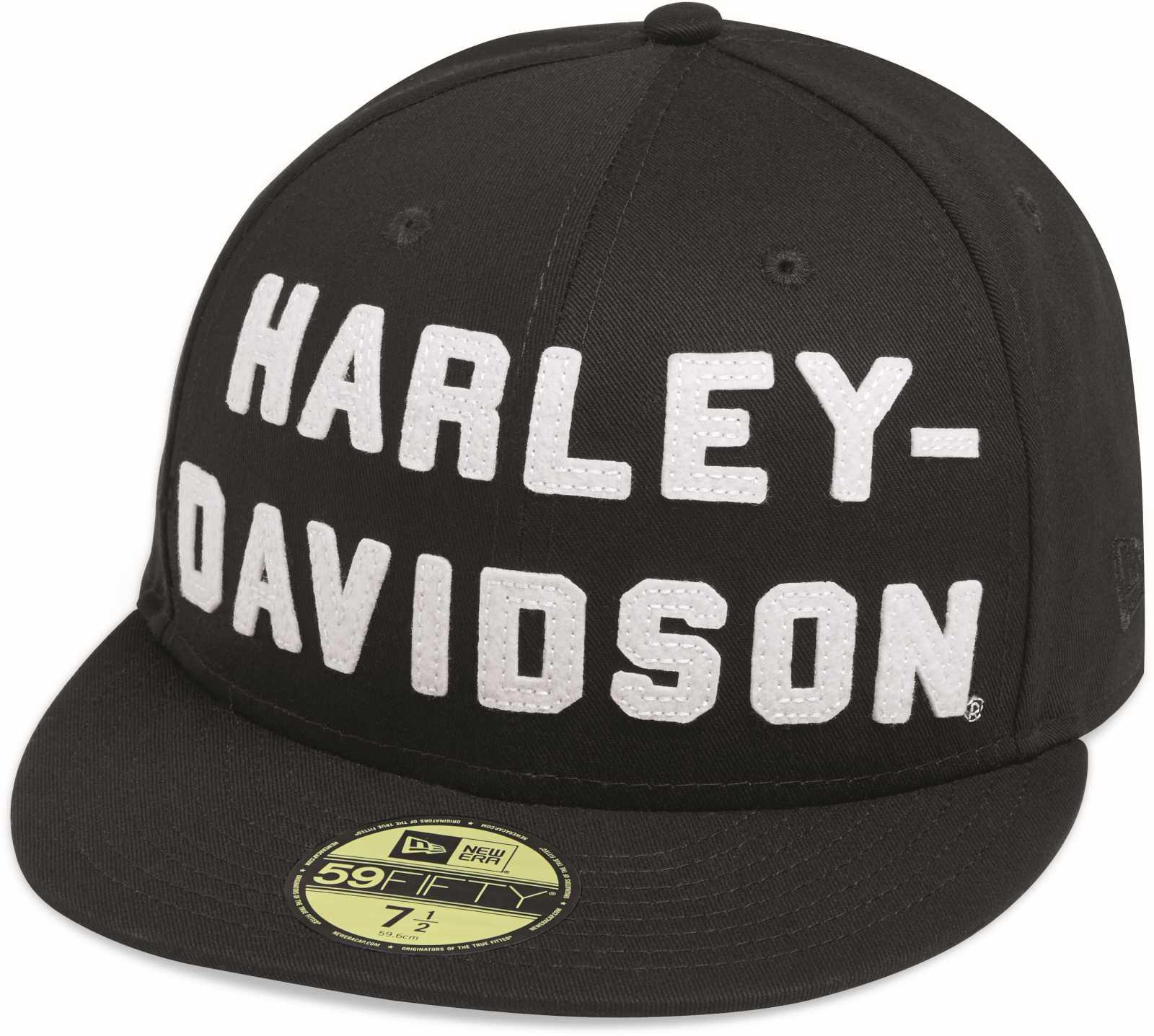 b5aeb61a609 ... H-D Motorclothes Harley-Davidson Baseball Cap Felt Letter 59Fifty -  99467-19VM ...
