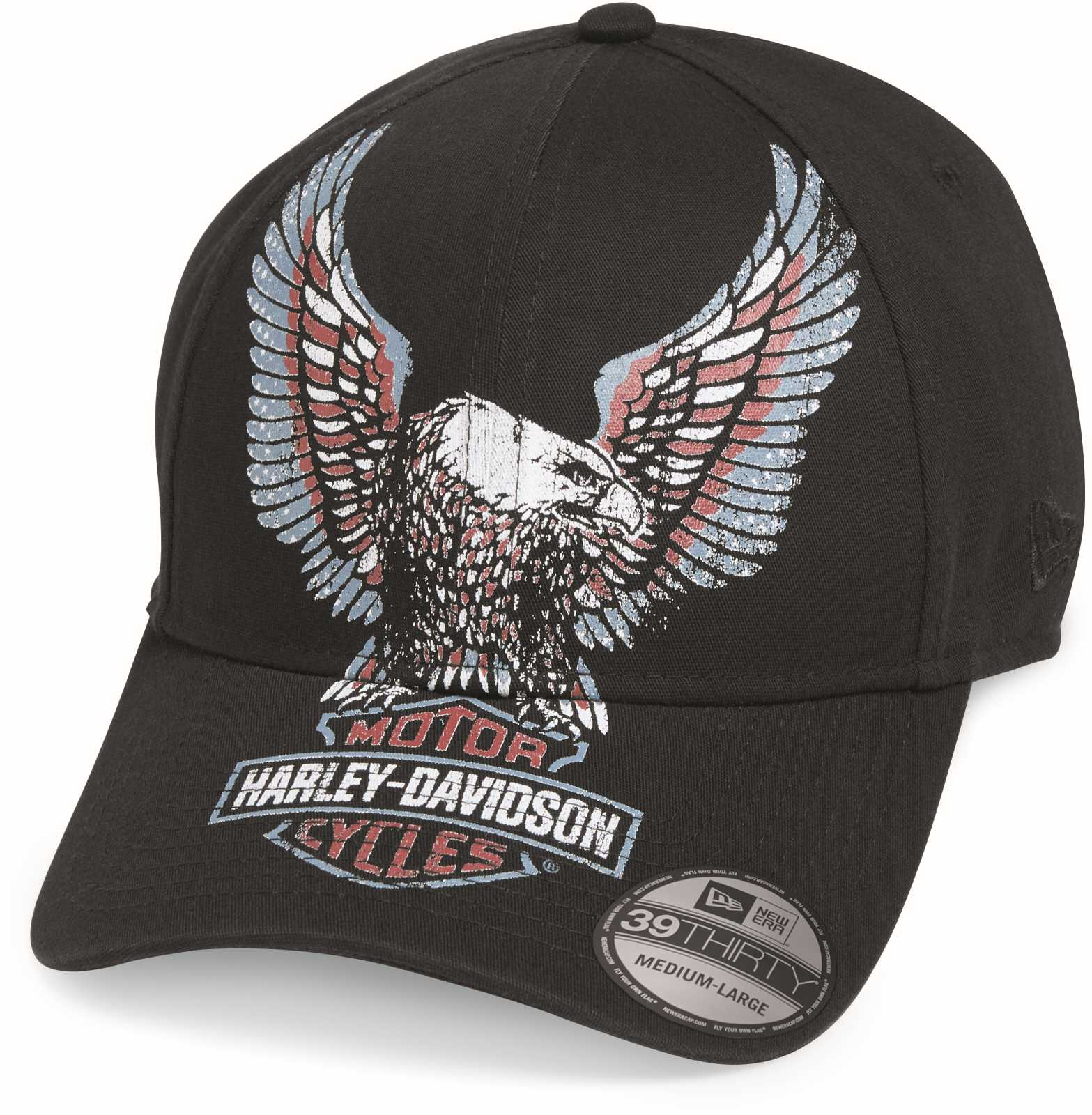 5db9c9b66a640 ... H-D Motorclothes Harley-Davidson Baseball Cap Eagle Printed -  99473-19VM ...