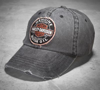 99492 07v Harley Davidson Baseball Cap Genuine Oil Grau Im