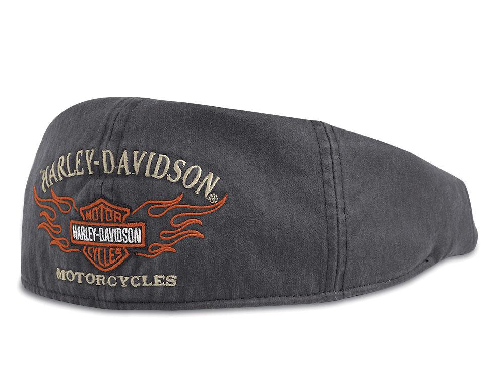 99537 11vm harley davidson ivy cap flame grau im. Black Bedroom Furniture Sets. Home Design Ideas