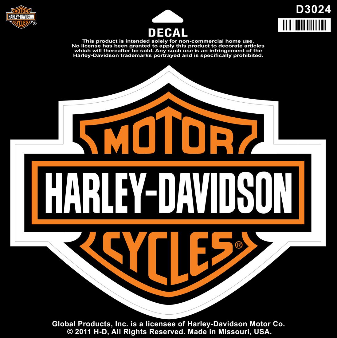 Harley Davidson Aufkleber Und Aufnaher Im Thunderbike Shop