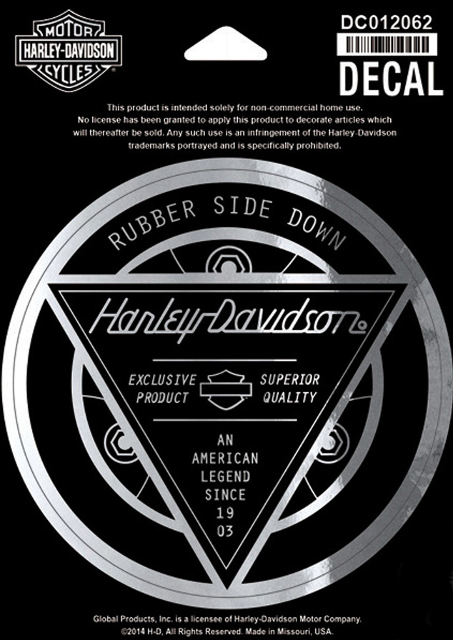 harley davidson aufkleber rubber side down im thunderbike shop. Black Bedroom Furniture Sets. Home Design Ideas