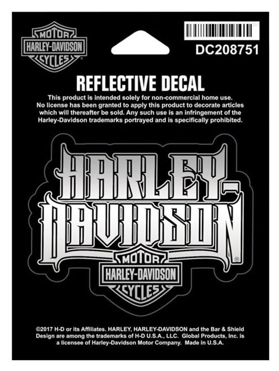 harley davidson aufkleber reflective spiked text bar. Black Bedroom Furniture Sets. Home Design Ideas