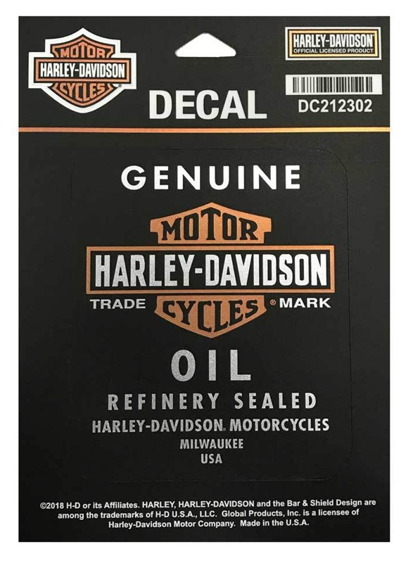 harley davidson aufkleber genuine oil klein im thunderbike. Black Bedroom Furniture Sets. Home Design Ideas